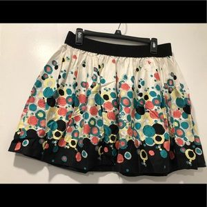Fun colored skirt with exposed zipper